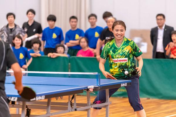 平野早矢香さんにチャレンジマッチ